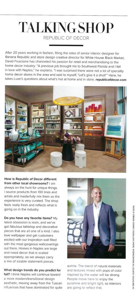 David Fruscione interior design